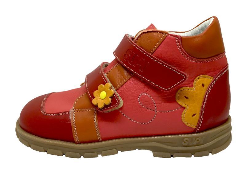Supykids DORA piros mix bélelt supinált cipő 9e5bfd0d5f